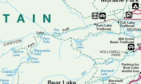 Odessa Lake Rocky Mountain National Park Map